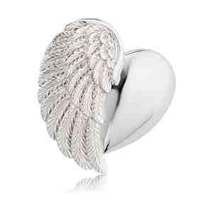 Přívěsek ENGELSRUFER Srdce s křídlem stříbrný