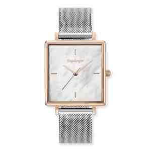 Dámské hodinky ENGELSRUFER Rose Gold Silver Strap