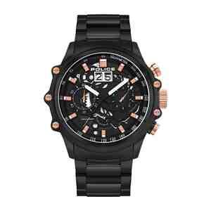 Pánské hodinky POLICE Luang Black & Rose Gold