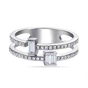 Prsten SILVERINO se zirkony 7803