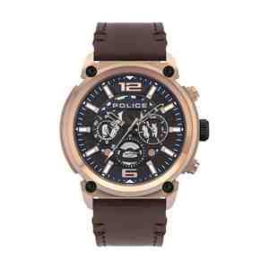 Pánské hodinky POLICE  Armor & Brown Leather Strap