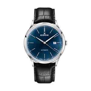 Pánské hodinky EDOX Les Vauberts Automatic Silver Blue