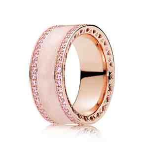 Prsten PANDORA Rose Růžová srdce _S