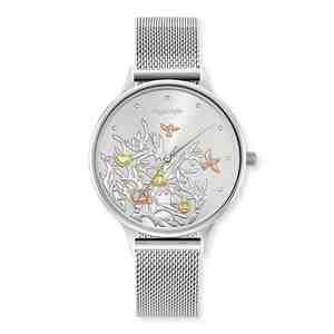 Dámské hodinky ENGELSRUFER Strom života Silver Strap