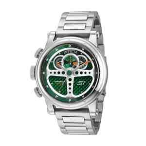 Pánské hodinky INVICTA S1 Rally Silver Green
