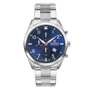 Pánské hodinky SWISS MILITARY HANOWA Helvetus Chrono Silver Blue