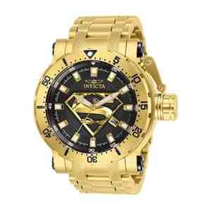 Pánské hodinky INVICTA DC Comics Superman Gold Black