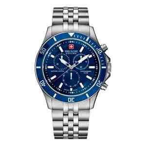 Pánské hodinky SWISS MILITARY HANOWA Flagship Chrono Silver Blue