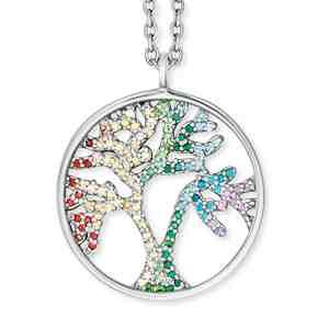 Náhrdelník ENGELSRUFER Strom života barevný
