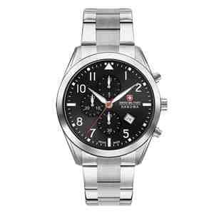 Pánské hodinky SWISS MILITARY HANOWA Helvetus Chrono Silver Black