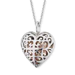 Náhrdelník ENGELSRUFER Andělský zvonek růžové srdce