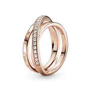 Prsten PANDORA Rose Propletené pavé kroužky