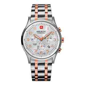 Pánské hodinky SWISS MILITARY HANOWA Patriot Chrono Silver Rose Gold