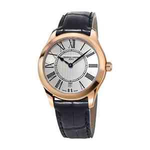 Dámské hodinky FREDERIQUE CONSTANT Classics Black Leather Strap