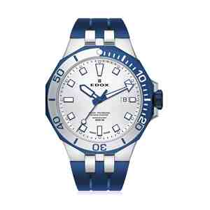 Pánské hodinky EDOX Delfin Blue Silver