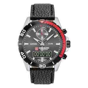 Pánské hodinky SWISS MILITARY HANOWA Multimission Black Leather