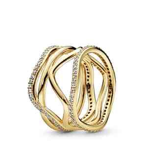 Prsten  PANDORA Shine Točité linie