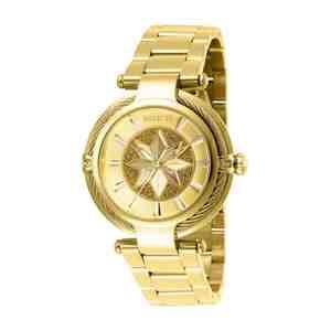 Dámské hodinky INVICTA Marvel Captain Marvel Gold