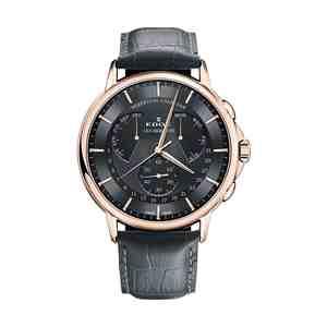 Pánské hodinky EDOX Les Bémonts Rose Gold Black