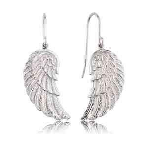 Náušnice ENGELSRUFER Andělské křídlo stříbrné