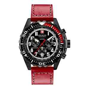 Pánské hodinky SWISS MILITARY HANOWA Touchdown Chrono Red