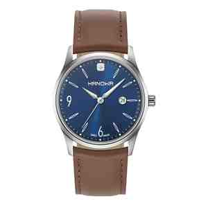 Pánské hodinky HANOWA Carlo Classic Brown & Blue