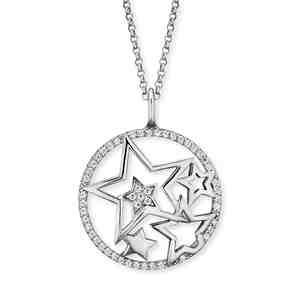 Náhrdelník ENGELSRUFER Hvězdy se zirkony 45 cm