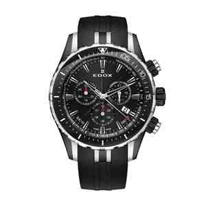 Pánské hodinky EDOX Chronograph Black Silver