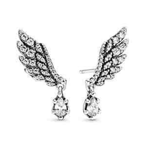 Visací náušnice PANDORA Andělská křídla