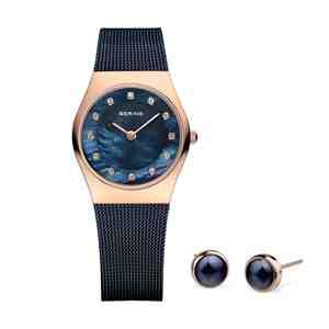 Dámský set BERING Classic 11927-367 hodinky a náušnice