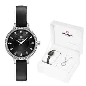 Dámské hodinky HANOWA Amelia Set s náhrdelníkem Black