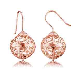 Náušnice ENGELSRUFER Andělské zvonky růžové zlacení _S