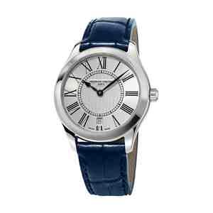 Dámské hodinky FREDERIQUE CONSTANT Classics Blue Leather Strap