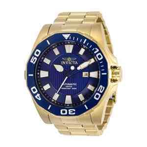 Pánské hodinky INVICTA Pro Diver Gold Blue