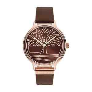 Dámské hodinky TIMBERLAND Tyringham Rose Gold Brown Leather Strap