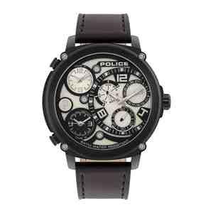Pánské hodinky POLICE Sagano Black Leather Strap