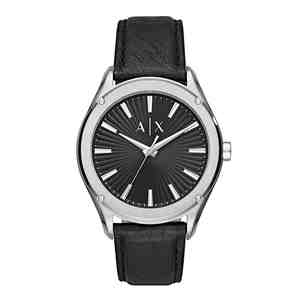 Pánské hodinky ARMANI EXCHANGE Fitz Silver Black