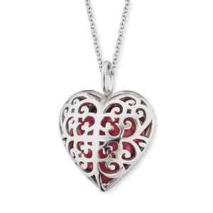 Náhrdelník ENGELSRUFER Andělský zvonek červené srdce