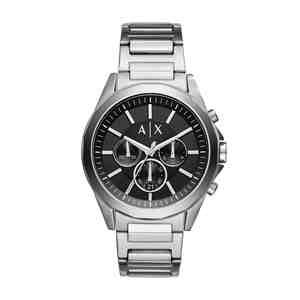 Pánské hodinky ARMANI EXCHANGE Drexler Silver Black