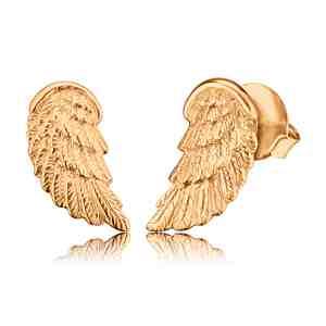 Náušnice ENGELSRUFER Andělské křídlo zlacené _S
