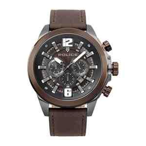 Pánské hodinky POLICE Klevan Dark Brown