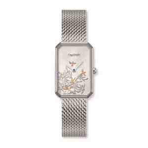 Dámské hodinky ENGELSRUFER Strom života Silver hranaté