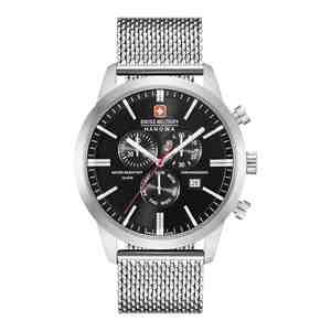 Pánské hodinky SWISS MILITARY HANOWA Chrono Classic Silver Black