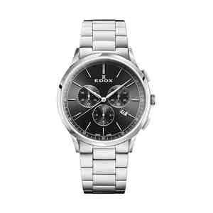 Pánské hodinky EDOX Les Vauberts Silver Black