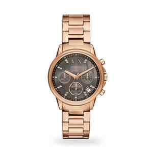 Dámské hodinky ARMANI EXCHANGE Lady Banks Rose Gold Black
