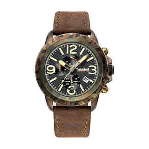 Pánské hodinky TIMBERLAND Ashbrook Brown Leather Strap