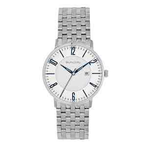 Pánské hodinky SUNDIAL Seven Link Bracelet Silver Blue White