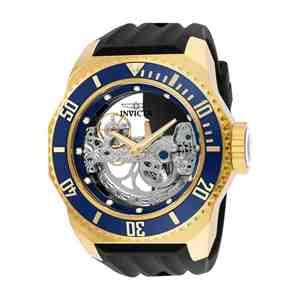 Pánské hodinky INVICTA Russian Diver Gold Black