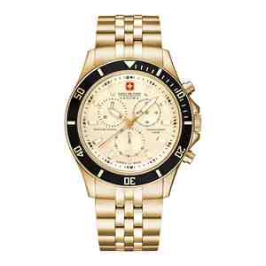 Pánské hodinky SWISS MILITARY HANOWA Flagship Chrono Gold