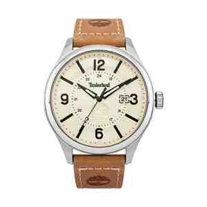 Pánské hodinky TIMBERLAND Blake Silver Brown Leather Strap
